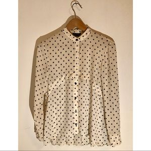 🔥3 for $20🔥Topshop Polka Dog Button Up Blouse
